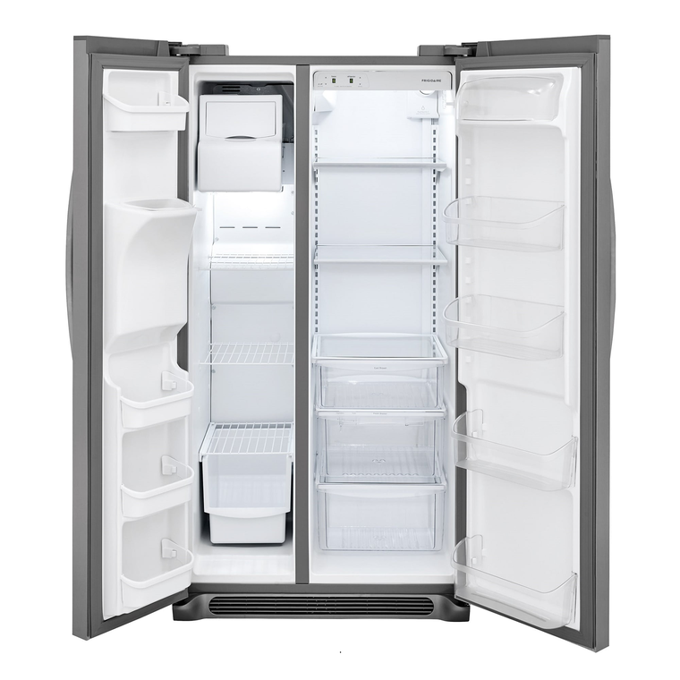 22 cu. ft. Side by Side Refrigerator - Stainless Steel