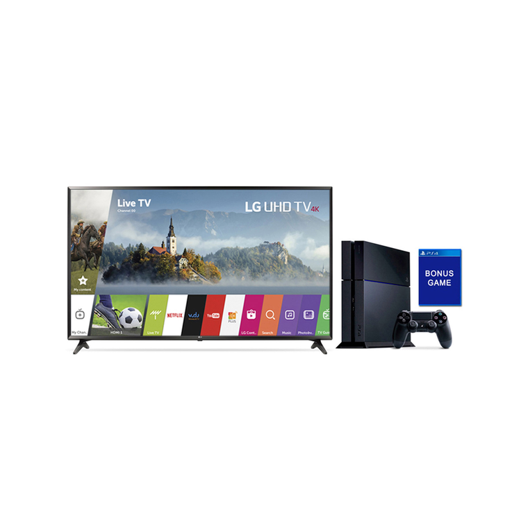 "49"" Class (48.5"" Diag.) 4K UHD LED Smart TV & Playstation 4 Bundle 