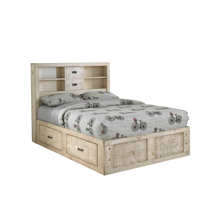 6-Piece Captain's Youth Full-Size Bed & Mattress Set