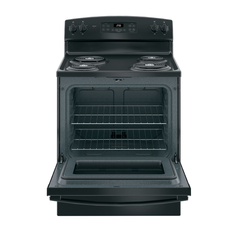 5.0 cu. ft. Self Clean Electric Range with Coil Cooktop - Black