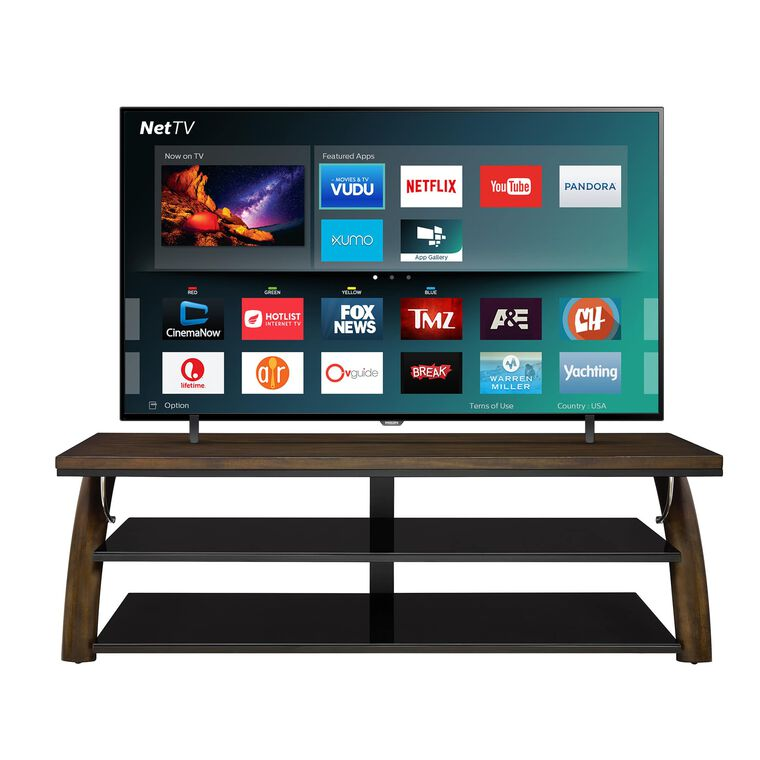 "75"" Class (74.5"" Diag.) Smart 4K UHD TV & 70"" TV Console Bundle"