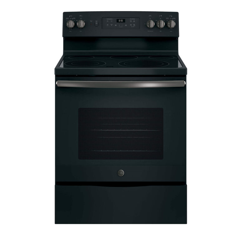 5.3 cu. ft. Self Cleaning Electric Convection Range with Ceramic Cooktop - Slate