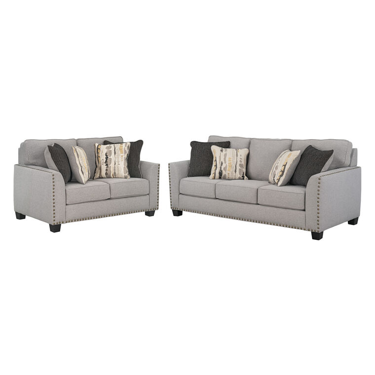 2-Piece Carmelle Sofa and Loveseat