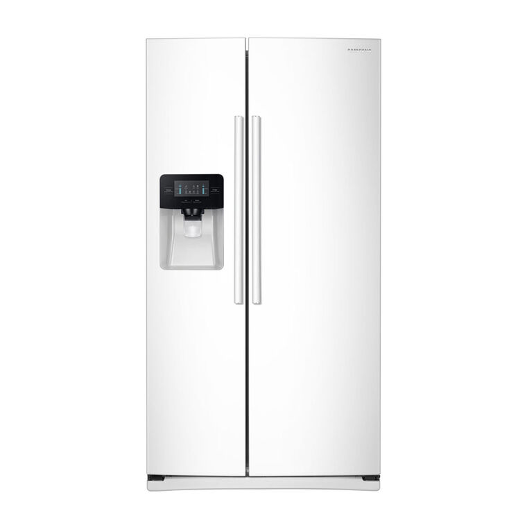 Samsung 25 cu. ft. Side-by-Side Refrigerator with Ice and Water - White