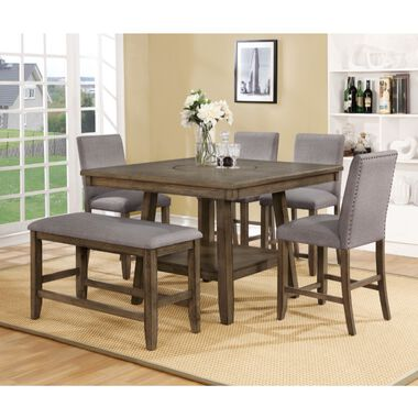 6-Piece Manning Grey Counter Height  Dining Set