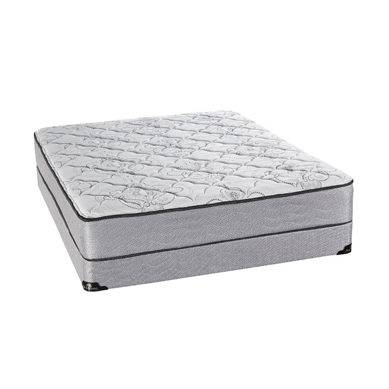 """Luxury Tight Top Twin Mattress with 9"""" Foundation and Protectors"""