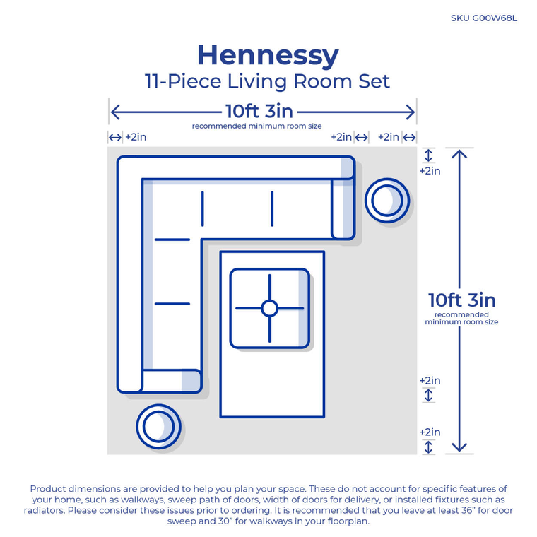 11-Piece Hennessy Living Room Collection