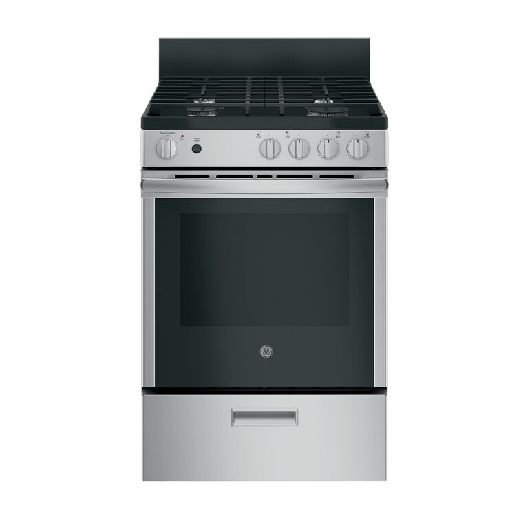 "24"" 2.9 cu. ft. Standard Clean Gas Range - Stainless"
