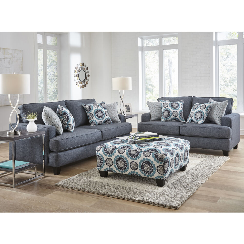 Woodhaven Industries Living Room Sets 7 Piece Carmela Living Room Collection With Ottoman