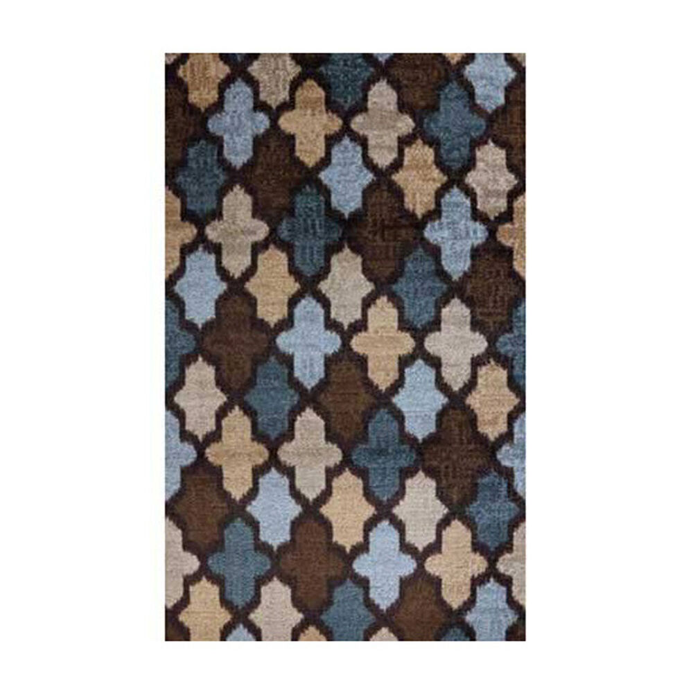 Mohawk Home Accessories Ikat Brown And Blue Area Rug