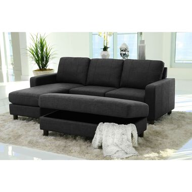 2-Piece Berkeley Reversible Chaise Sofa and Storage Ottoman Set