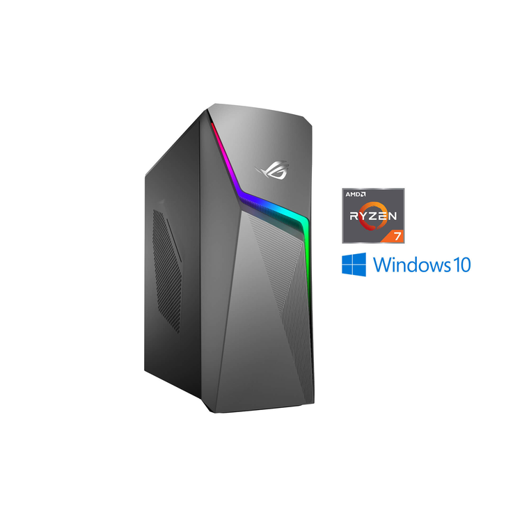 "ROG Strix GL10 Gaming Desktop with Two 22"" Gaming Monitors and Total Defense Internet Security"