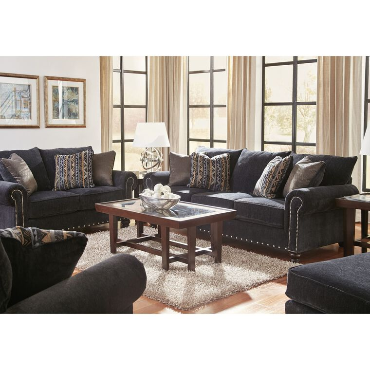 2-Piece Avery Slate Sofa and Loveseat