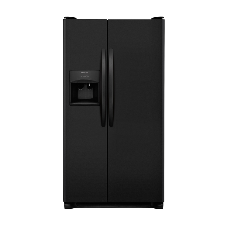 22 cu. ft. Side by Side Refrigerator - Black at Aaron's in Topeka, KS | Tuggl