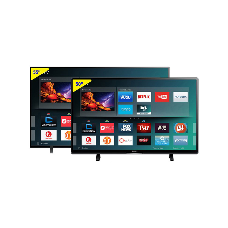 """55"""" Class (54.6"""" Diag.) Smart 4K UHD TV & 50"""" Class (49.5"""" Diag.) Smart 4K UHD TV at Aaron's in Lincoln Park, MI 