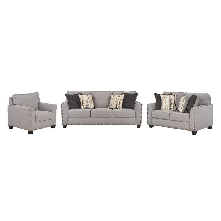 3-Piece Carmelle Sofa, Loveseat, and Chair