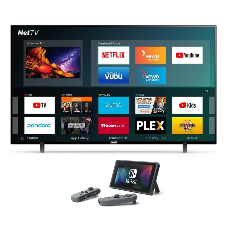 "Paquete de Smart TV UHD de 50"" Class 4K (49.5"" en Diag.) y Nintendo Switch"