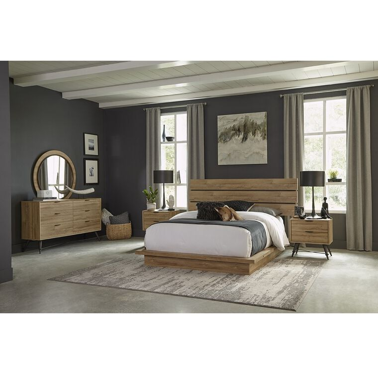 11-Piece Irony Queen Bedroom Collection With Pillow Top Mattress