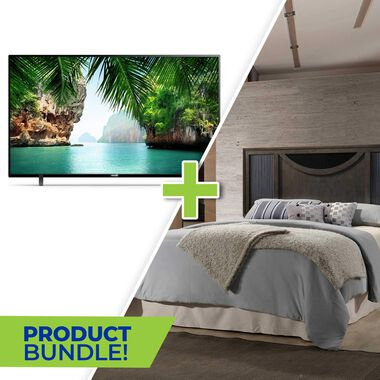 "50"" Class 4K UHD Smart TV and Seneca Queen Bedroom Bundle"
