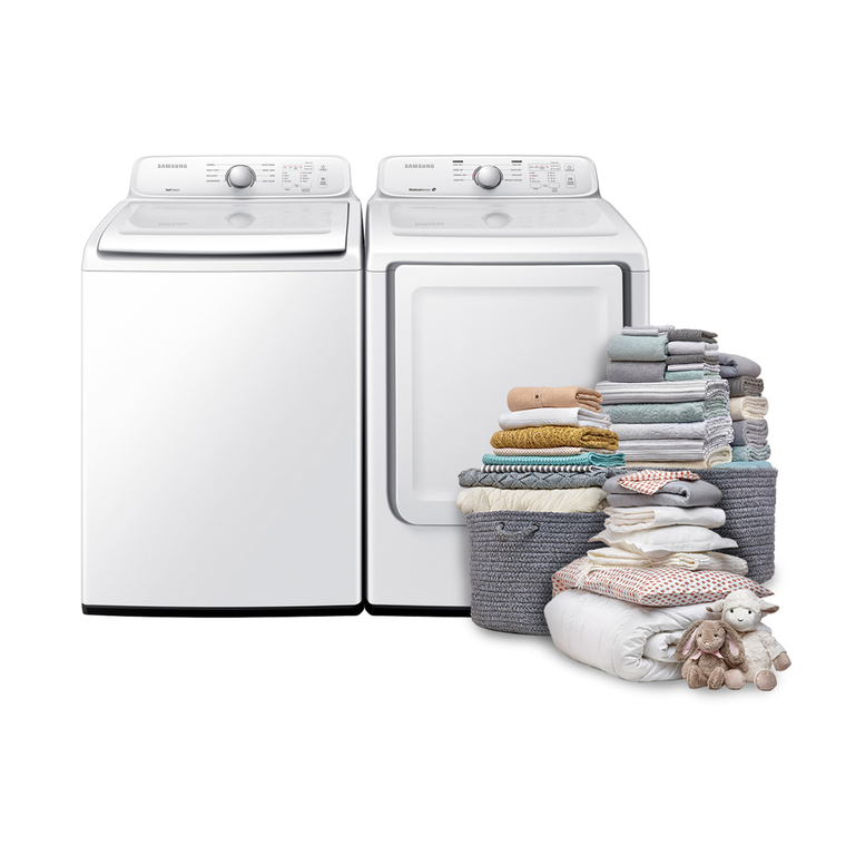 4.0 cu. ft. Top Load Washer & 7.2 cu. ft. Electric Dryer