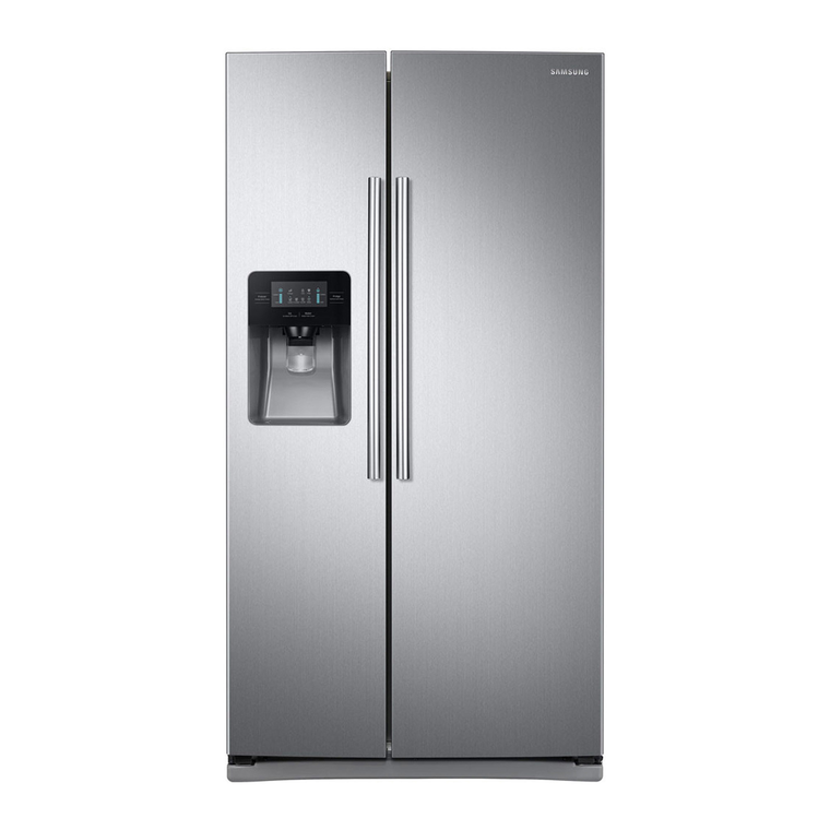 25 cu. ft. Side-by-Side Refrigerator with Ice and Water - Stainless Steel
