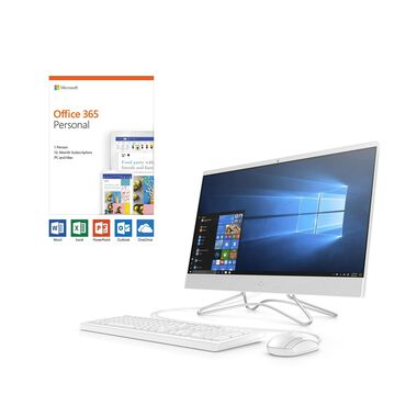 """24"""" All-in-One Desktop with Microsoft Office 365 Personal and Total Defense Internet Security"""