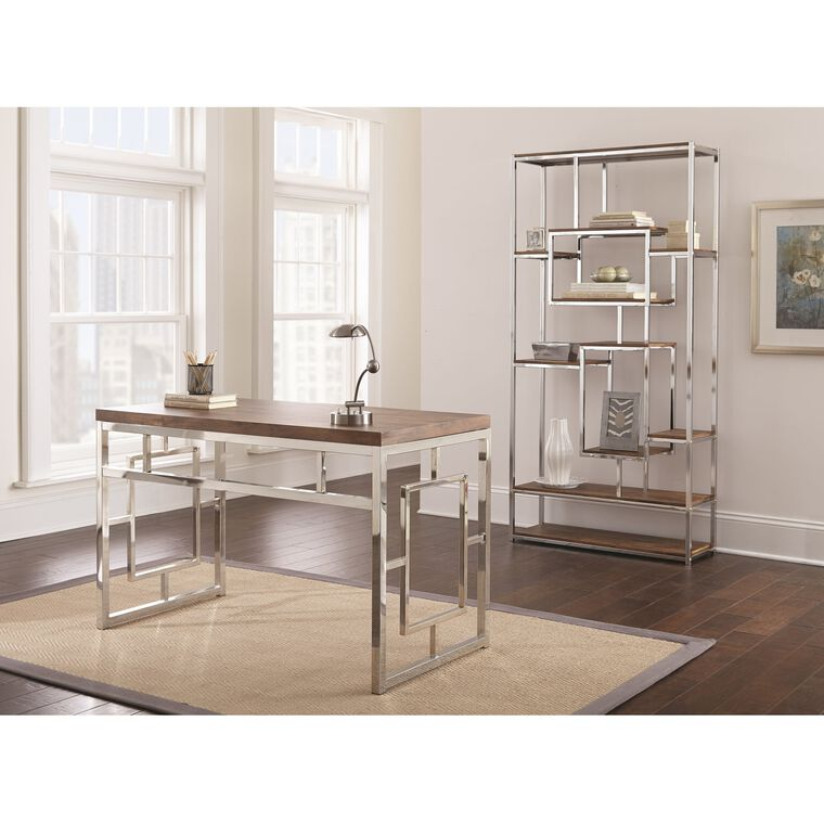 2-Piece Alize Desk and Bookshelf Set