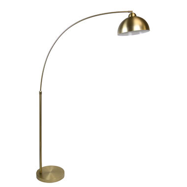 "68.5"" Plated Gold Arc Floor Lamp"