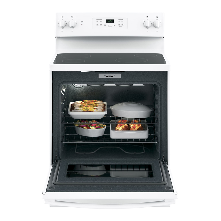 5.3 cu. ft. Self Cleaning Electric Range with Ceramic Cooktop - White