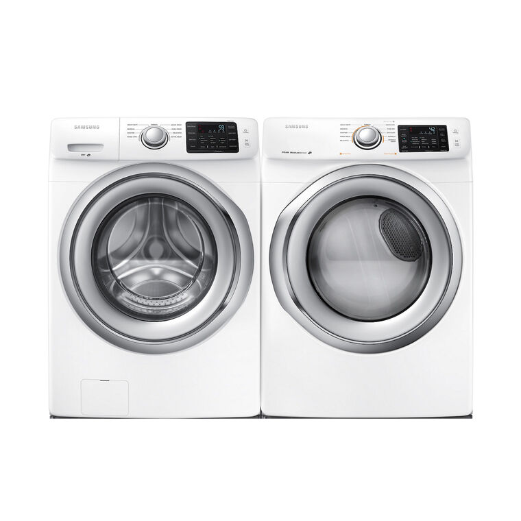 4.2 cu. ft. Front Load Washer &  7.5 cu. ft. Electric Steam Dryer
