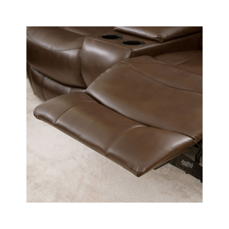 Calabasas Faux Leather Loveseat