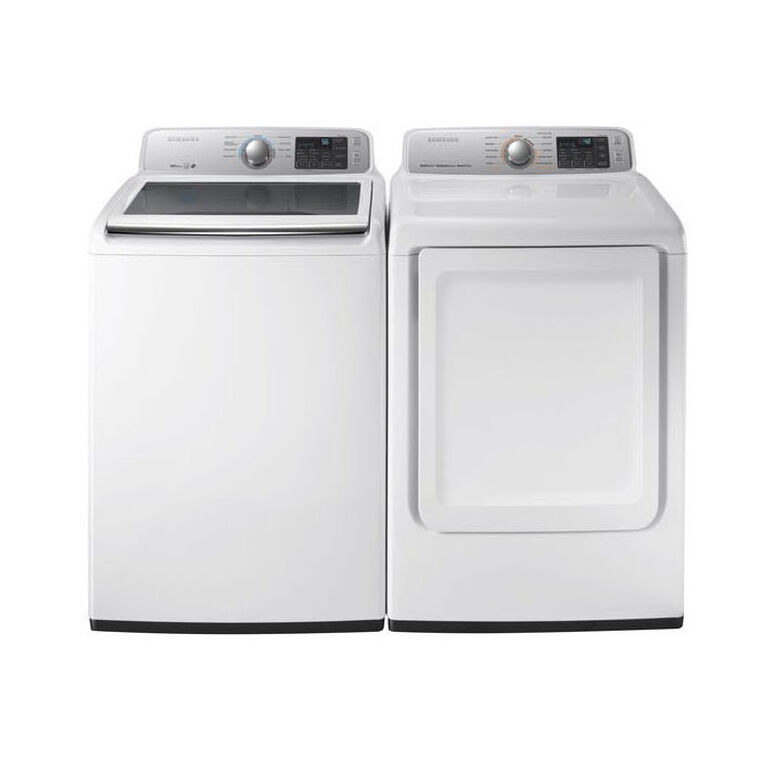 4.5 cu.ft. Top Load Washer & 7.4 cu. ft. Gas Dryer