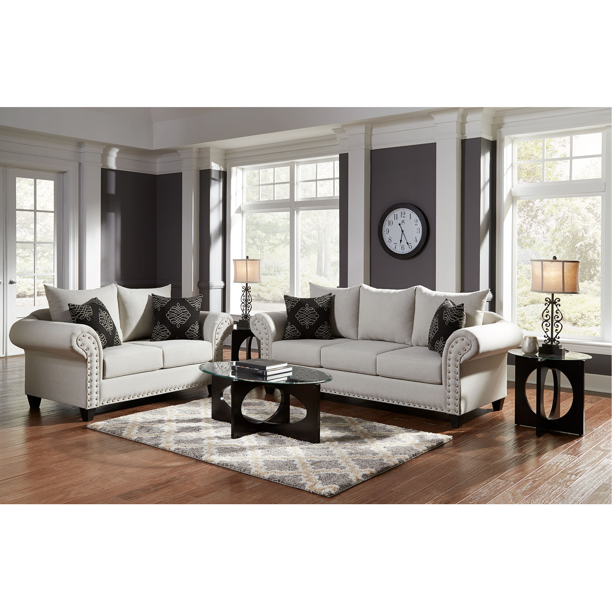 8 Piece Beverly Living Room Collection Rent to