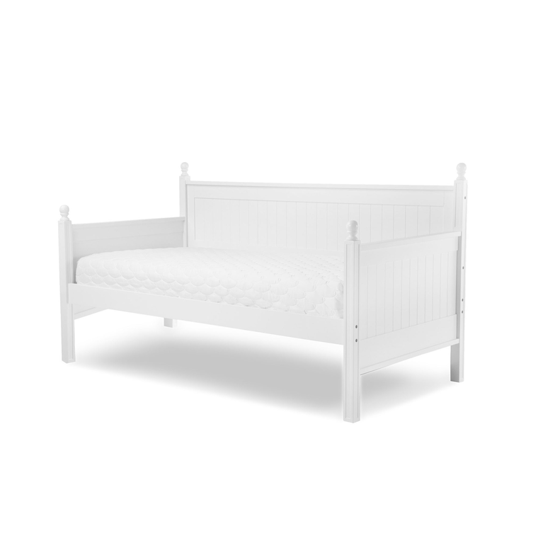 Casey II Wood Daybed with Ball Finials, White Finish, Twin