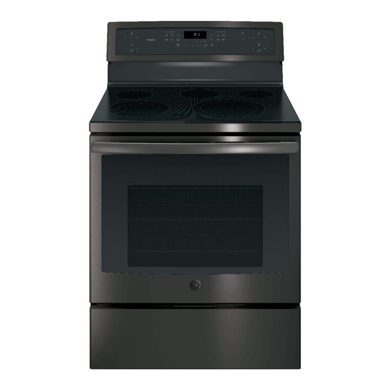 5.3 cu. ft. Self Cleaning Electric Convection Range with Ceramic Cooktop - Black Stainless Steel
