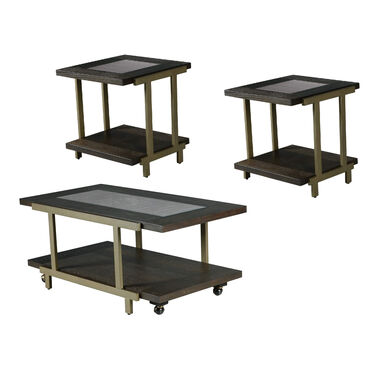 3-Piece Terrell Cocktail & End Tables Bundle