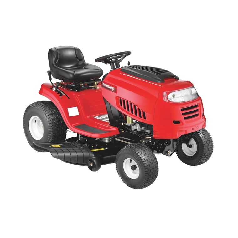 "42"" 420cc Riding Lawn Mower With 7-Speed Manual Transmission"