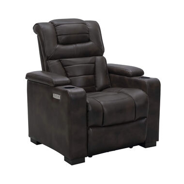 Galaxy Power Theater Chair - Brown