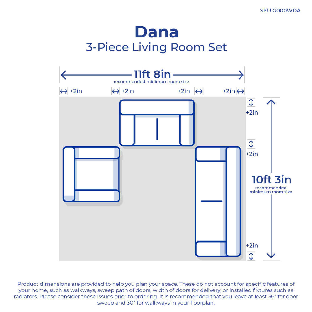 Rent To Own Woodhaven 3 Piece Dana Living Room Collection At
