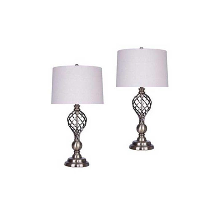 Antique Soft Brass Table Lamp (Set of 2)
