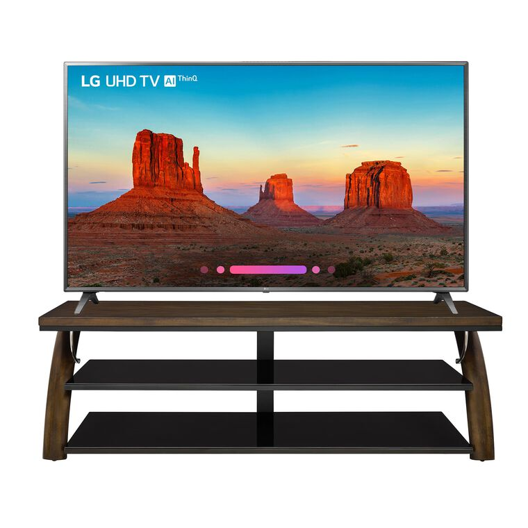 "75"" Class (74.5"" Diag.) 4K UHD LED Smart TV & 70"" TV Console Bundle"