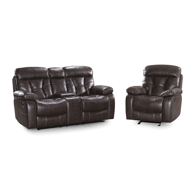 2-Piece Peoria Reclining Lovseat and Recliner