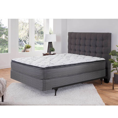 """Pillowtop Plush Queen Mattress with 9"""" Foundation and Protectors"""