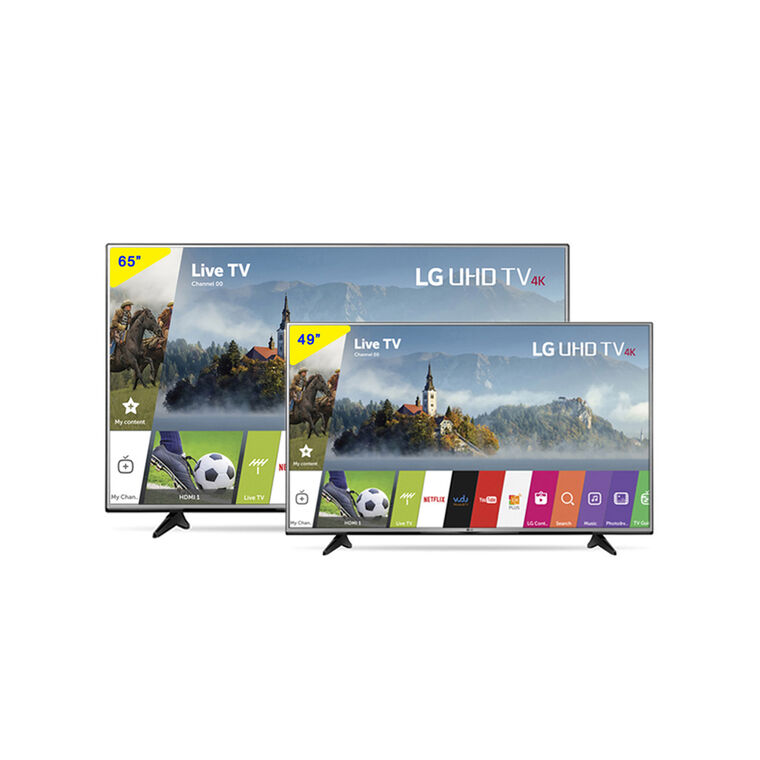"65"" Class (64.5"" Diag.) Smart 4K UHD TV & 49"" Class (48.7"" Diag.) 4K UHD LED Smart TV Bundle"