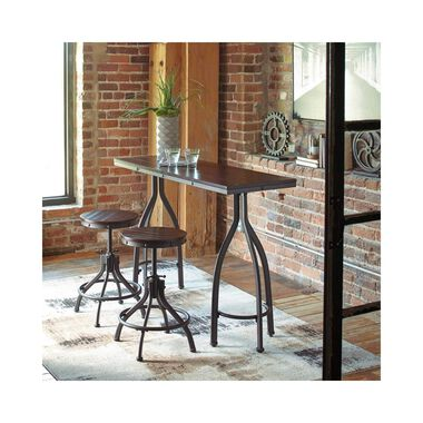 3-Piece Odium Bar Table Set with 2 Stools