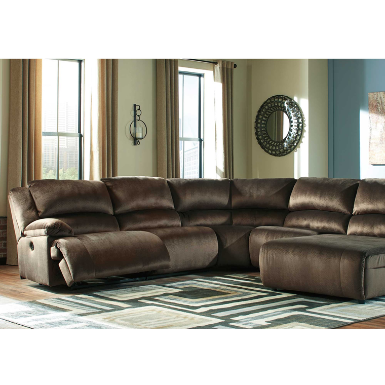6-Piece Clonmel Chocolate Reclining Sectional Living Room Collection