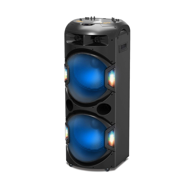 "Party System L-215 6000W Dual 15"" Light Show"