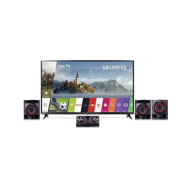 "49"" Class 4K UHD LED Smart TV & HiFi Shelf Audio System Bundle"