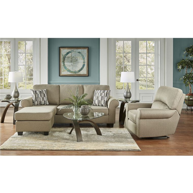 2 Piece Hayden Chaise Sofa And Recliner Living Room Collection