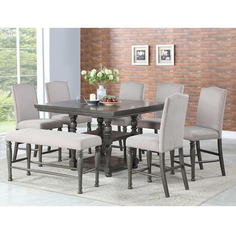 8-Piece Caswell Counter Height Dining Room Collection